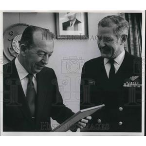 1972 Press Photo Dwight Boyer Honored by Coast Guard Rear Adm. W.A. Jenkins