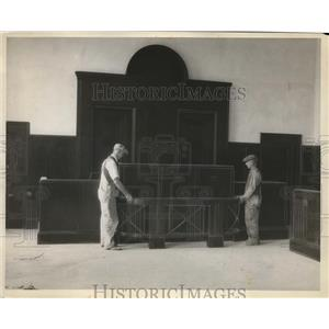 1980 Press Photo Judges bench in one of the six Criminal Court rooms