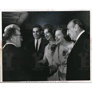 1965 Press Photo HEW Secretary Anthony Celebrezze At Bridal Reception