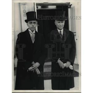 1929 Press Photo Eric Loww and M Castle Jr.