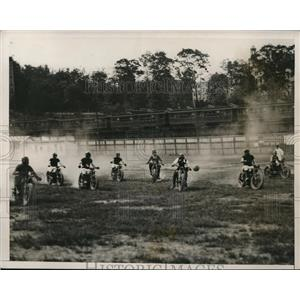 1933 Photo Championship Motorcycle Polo Game Innisfall Park New York