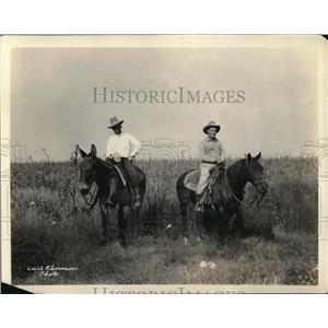 1924 Press Photo Cowboys on Horseback at Pat Neff Prison System Honor Farm