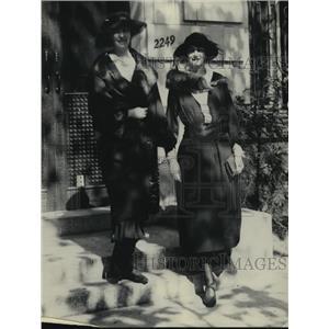 1922 Press Photo Mrs Wallenberg & Ingagard Wallanberg of Sweden