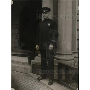 1920 Press Photo Lt William G Scott of Wash DC police
