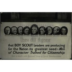 1923 Press Photo Boy Scouts leaders.