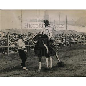 1921 Press Photo The Buger Kid at the cowboy event