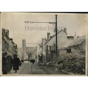 1920 Press Photo American Red Cross in Rheims, France to aid in reconstruction.