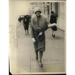 1928 Press Photo Mrs J B Sheldon-Society on Park Ave