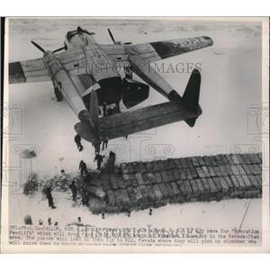 1949 Press Photo Fallon, Nev. C-82 transpot planes for Operation Feedlift