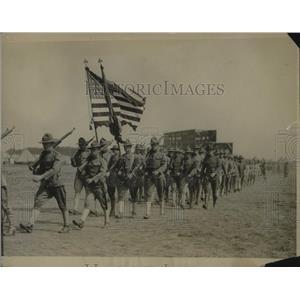 1917 Press Photo 14th Reg of Infantry of NY Natl Guard at practice