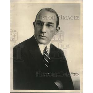 1924 Press Photo Sigmund Spaeth noted music critic for Common Sense of Music