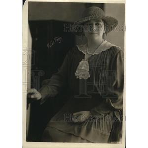 1919 Press Photo Leader of anti suffragists Mrs JW Wadsworth