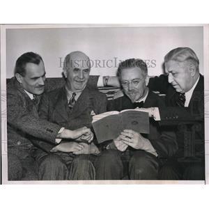 1939 Press Photo Chicago Nobel winners Prof Art Compton, Sir Wm Beagg