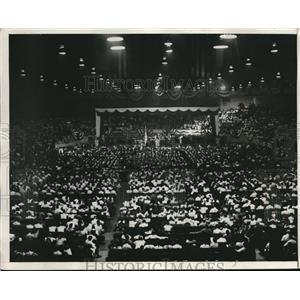 1931 Press Photo American Legion Members Gather In Detroit To Hear Plea On Bonus