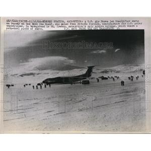 1966 Press Photo McMurdo Station, Antarctica U.S Air Force Jet Starlifter