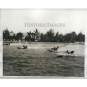 1933 Press Photo $5,00 Col. ER.H.H.Green Trophy race in Biscayne Bay - nee02654