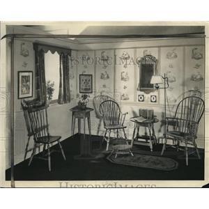 1930 Press Photo American Furniture Mart Dining Room - nee02631