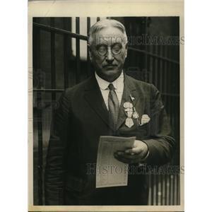 1924 Press Photo PJ Halligan chief clerk & sec of Democratic Convention in NYC