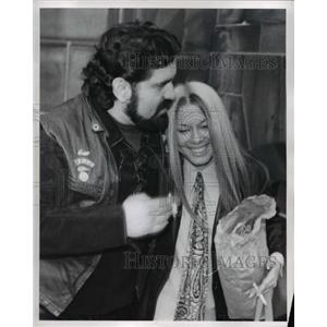 1972 Press Photo Russell Beyer and wife Pat of the Hell's Angels Motorcycle club