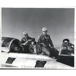 1956 Press Photo Lt John Roberts, Lt John Williams at VZincent AFB Az