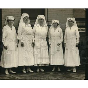 1917 Press Photo Red Cross Officers Visit College, Rachael Farrand, Geo Forney
