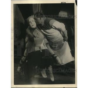 1922 Press Photo Louis Vitale Boston showemaker & alife sized doll of wife