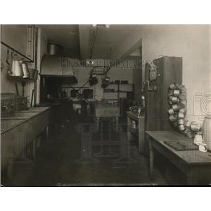 1913 Press Photo Kitchen at County Jail