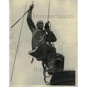 "1927 Press Photo Jo ""Hi"" Powers, Chicago Steeple Jack."