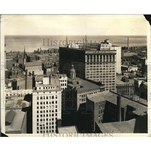 1967 Press Photo The Aerial View of Cleveland - cva83225