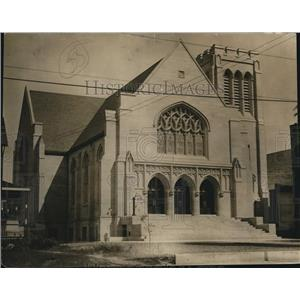 1913 Press Photo Lakewood M.E. Church uncompleted as it stood late on Sept. 1913