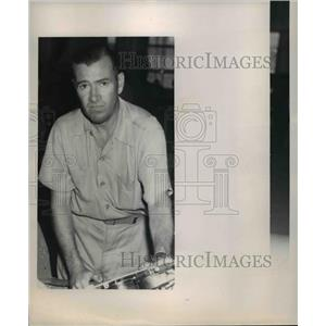 1949 Press Photo Earl Ortman race pilot of Lil Rebel owned by Bob Hopkins