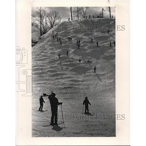 1996 Press Photo The skiers at the Boston Mills - cva77363