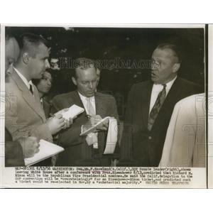1956 Press Photo Senate GOP leader William Knowland at White House  - nee86413