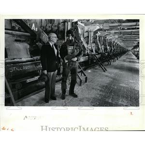 1985 Press Photo Norm Krex, Jon Paggett of Mead Kaiser - spa01044