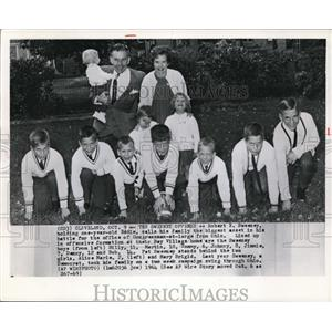 1964 Wire Photo Sweeney with his boys in offensive formation at Bay Villagehome