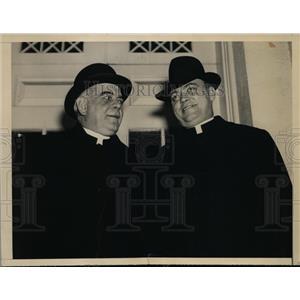 1938 Press Photo Rev.James H Ryan of Omaha and Rev.Maurice Sheehy at Whote House