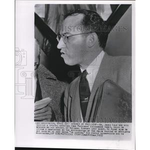 1955 Wire Photo Dr. Jonas Salk receives special citation from Pres. Esenhower