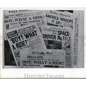 1961 Wire Photo The reports of 1st successful flight on US astronaut in London