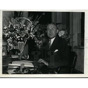 1936 Press Photo Harry Woodring of Kansas, U.S Secretary of War - nee88017