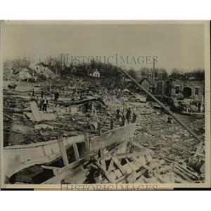 1942 Press Photo Wrecked by Tornados that lashed the Midwest from Ill. to Ala.