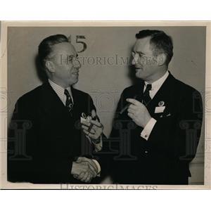 1936 Press Photo L.W.Monteverde and J.Meryl Silk of Pennsylvania Real Estate