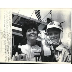 1971 Wire Photo Larry Blair holds his trophy for All American Soap Box Derby