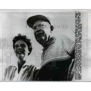 1960 Press Photo President Eisenhower & Golf champ Helen Dettweiler