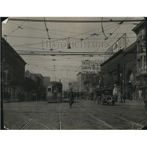 1922 Press Photo Euclid Ave. looking West from 55th Street - cva87834