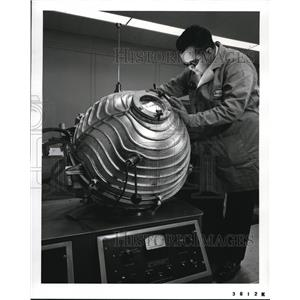 1959 Press Photo Although it may look like one, the piece of equipment shown is