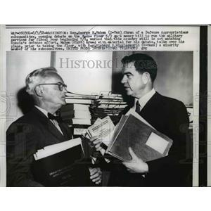 1958 Press Photo Rep George Mahon of Texas & Rep Richard Wigglesworth of MA