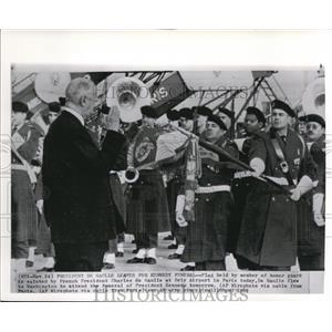 1963 Wire Photo French Pres. Charles de Gaulle during the Kennedy funeral