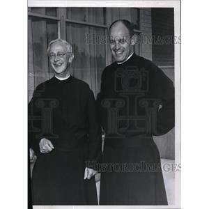 1960 Press Photo Rev John Joseph Brown, Rev Cornelius E Byrne & Rev Paul Mueller