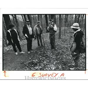 1991 Press Photo Surveyors at Metroparks in Brecksville, Ohio - cva73519