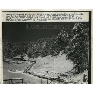 1961 Press Photo Idaho Springs Idaho 20 inches of snowfall in the mountains